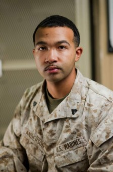 Carmel Valley San Diego Community | Cpl Anderson | Marine of the Month March | Louis McKay