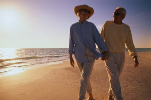 Carmel Valley San Diego Community | Older Couple Walking Along Beach | Rich Mino | Social Security & An Uncertain Future
