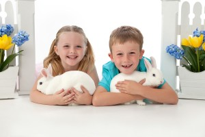 Carmel Valley San Diego Community | Bill Keane | Children with White Bunnies