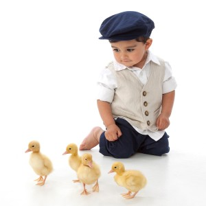 Carmel Valley San Diego Community | Bill Keane | Little Boy with Baby Ducks