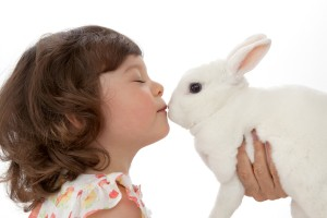 Carmel Valley San Diego Community | Bill Keane | Girl Kissing Bunny