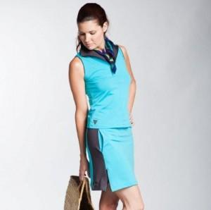 Carmel Valley San Diego Community | Rowena Kelley | Turquoise Ziptop Skirt