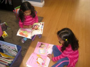 Carmel Valley San Diego Community | Kristin Rude | Twins Reading Books