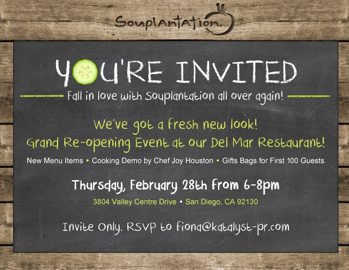 Carmel Valley San Diego Community | Souplantation Del Mar Invite