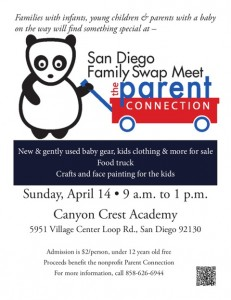 Carmel Valley San Diego Community | Kim Knox | Swapmeet Flyer - April 2013