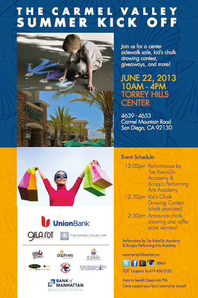 Carmel Valley San Diego Community | Sidewalk Sale & Chalk Drawing Contest 2013 | Torrey Hills Center