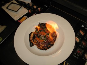 Carmel Valley San Diego Community | Perry Chen | Baked Scallop in Flame
