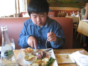 Carmel Valley San Diego Community | Perry Chen | Perry enjoying Filet Mignon at French Gourmet