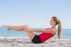 Carmel Valley San Diego Community | Amy Mewborn | Workout on Beach