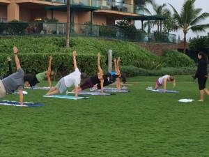 Carmel Valley San Diego Community | Amy Mewborn | Workout on Lawn