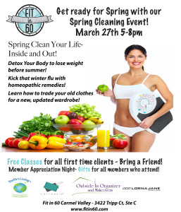 Carmel Valley San Diego Community | Amy Mewborn | Fit in 60 Spring Cleaning